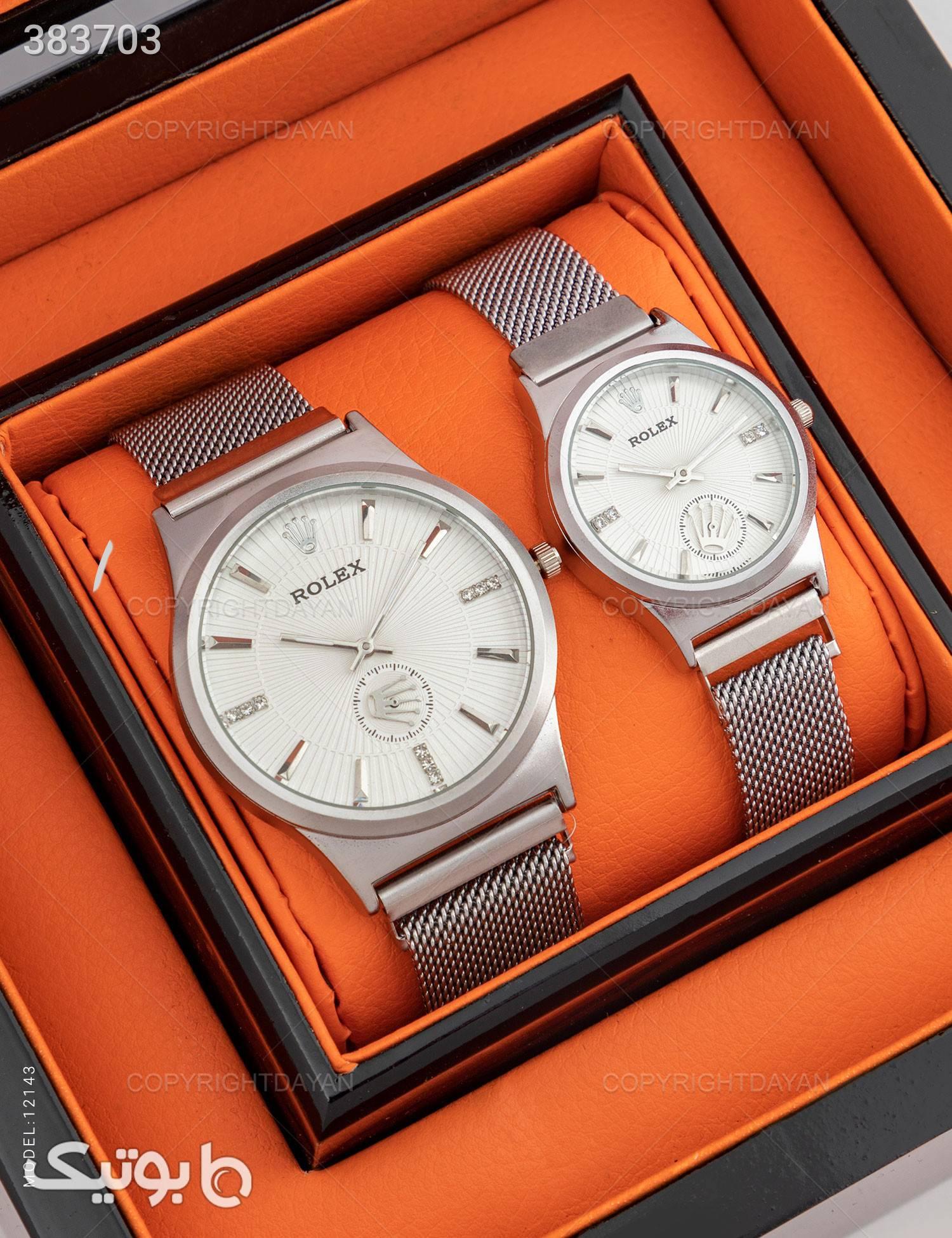 ست ساعت مچی Rolex مدل 12143 نقره ای ساعت