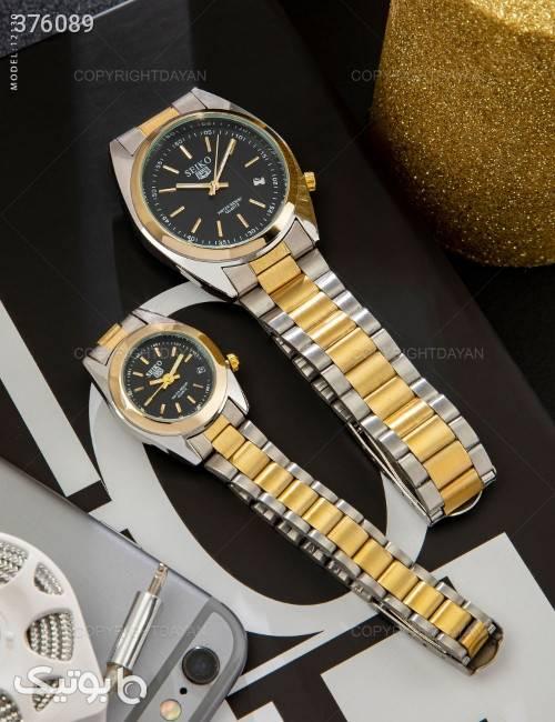ست ساعت مچی Seiko مدل 12130 زرد ساعت