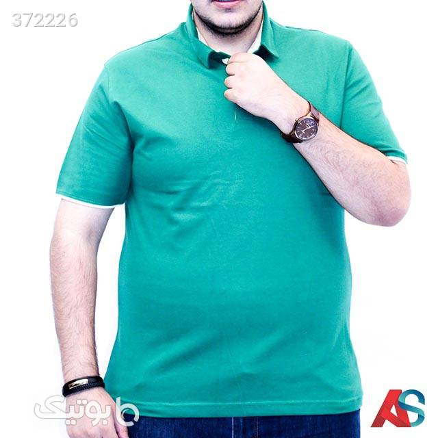 تیشرت سایز بزرگ کد محصول TF703 فیروزه ای سایز بزرگ مردانه