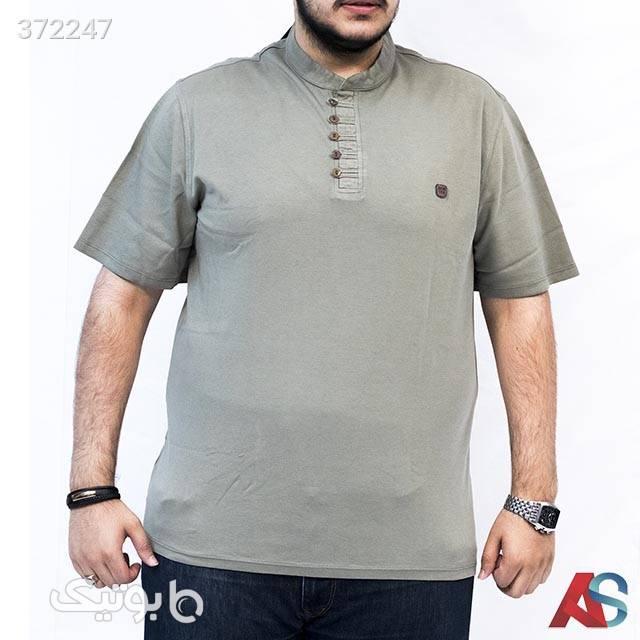 تیشرت سایز بزرگ کد محصول tbb351 طوسی سایز بزرگ مردانه