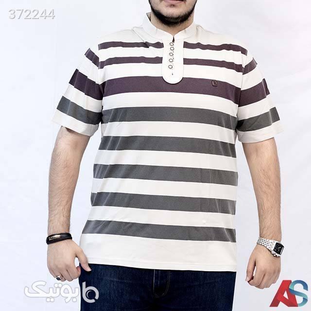 تیشرت سایز بزرگ کد محصول tbb355 سفید سایز بزرگ مردانه