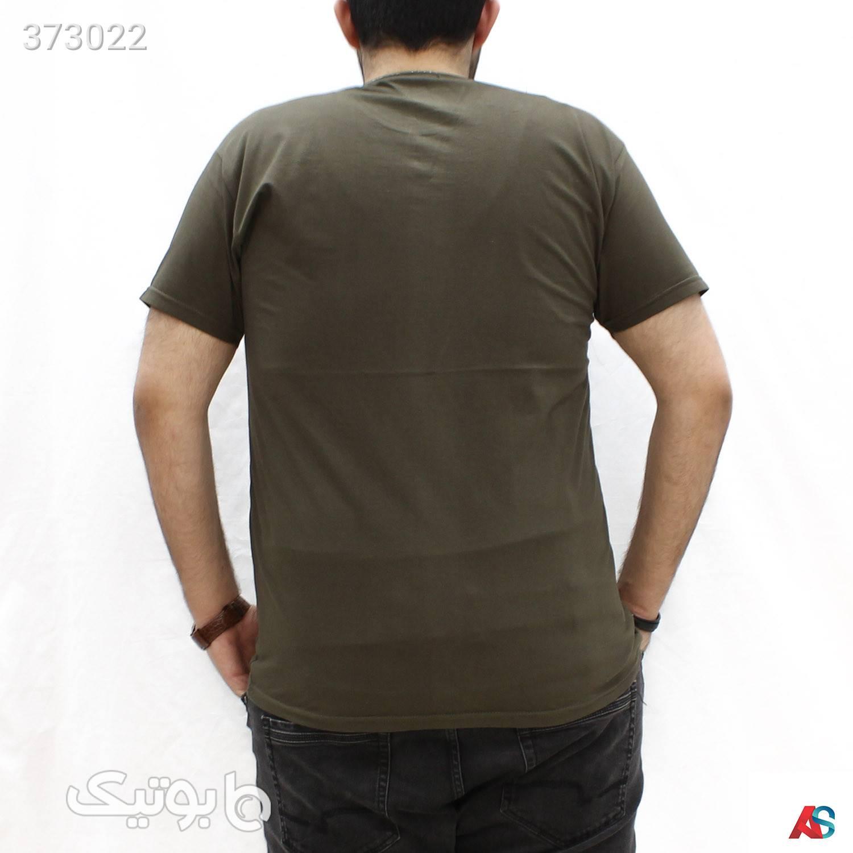 تیشرت یقه گرد سایزبزرگ کد محصول TBG915 سبز سایز بزرگ مردانه