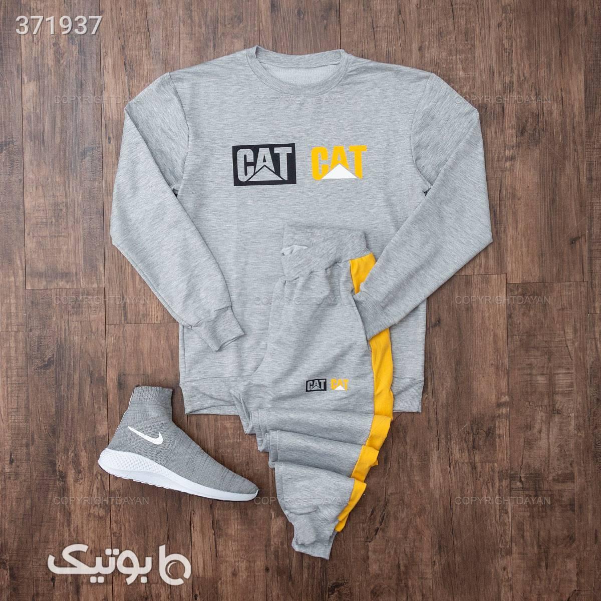 ست بلوز و شلوار مردانه Cat مدل 11797   نقره ای ست ورزشی مردانه
