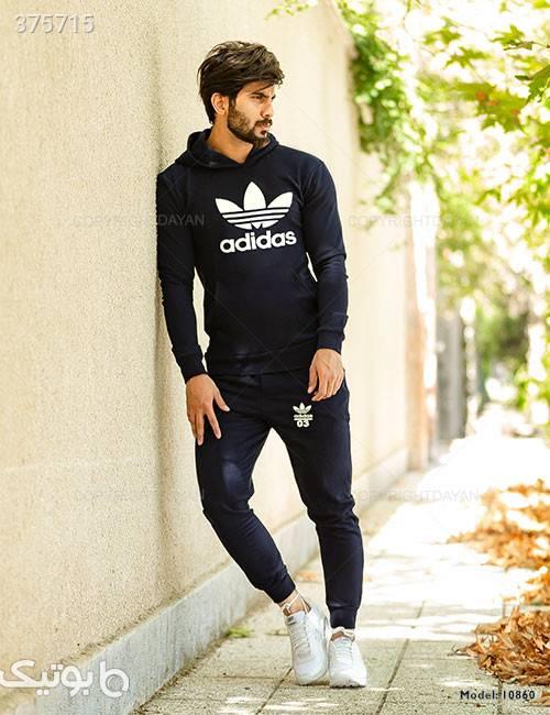 ست سویشرت و شلوار مردانه Adidas مدل10860 سورمه ای ست ورزشی مردانه