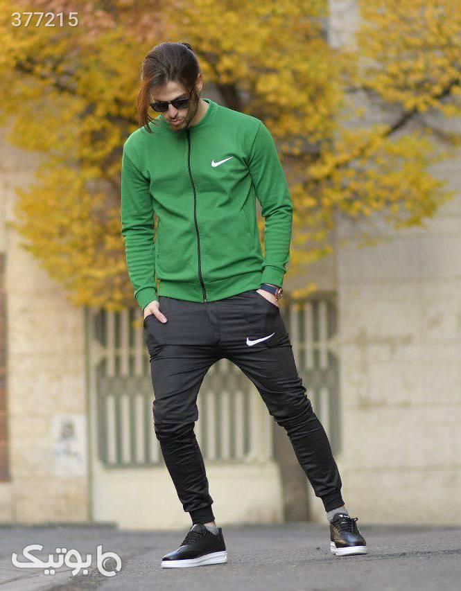 ست سويشرت و شلوار نایک مدل YAMIN سبز سوئیشرت و هودی مردانه