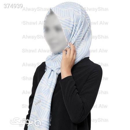 شال و روسری زنانه برند alwayshawl از ترکیه آبی شال و روسری