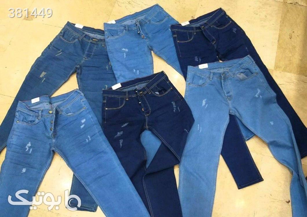 شلوار جین مردانه آبی شلوار مردانه