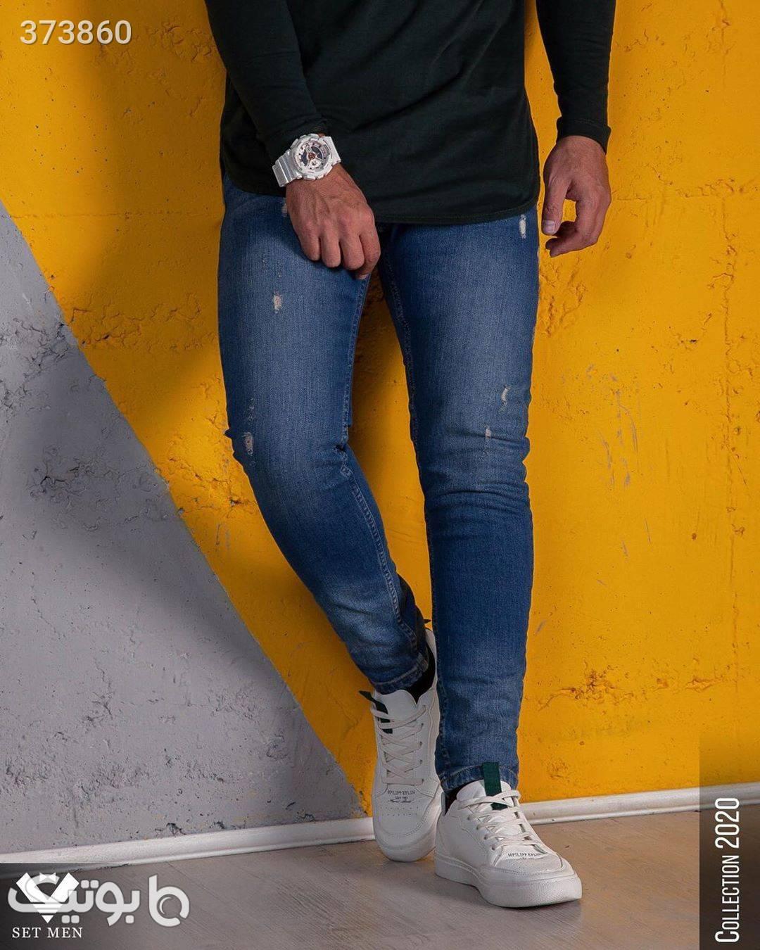 شلوار جین آبی شلوار مردانه