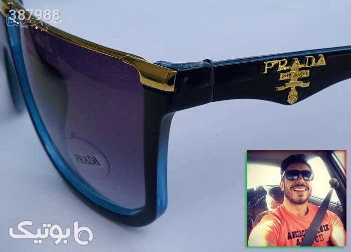 عینک آفتابی پرادا مدل فلت مشکی عینک آفتابی