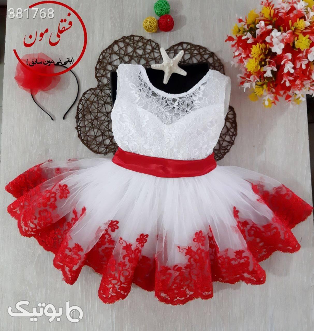 لباس عید دخترانه قرمز لباس کودک دخترانه