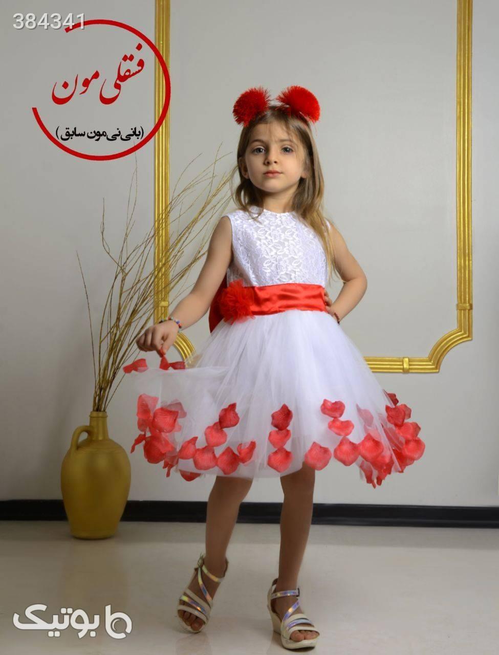لباس عروس دخترانه سفید لباس کودک دخترانه