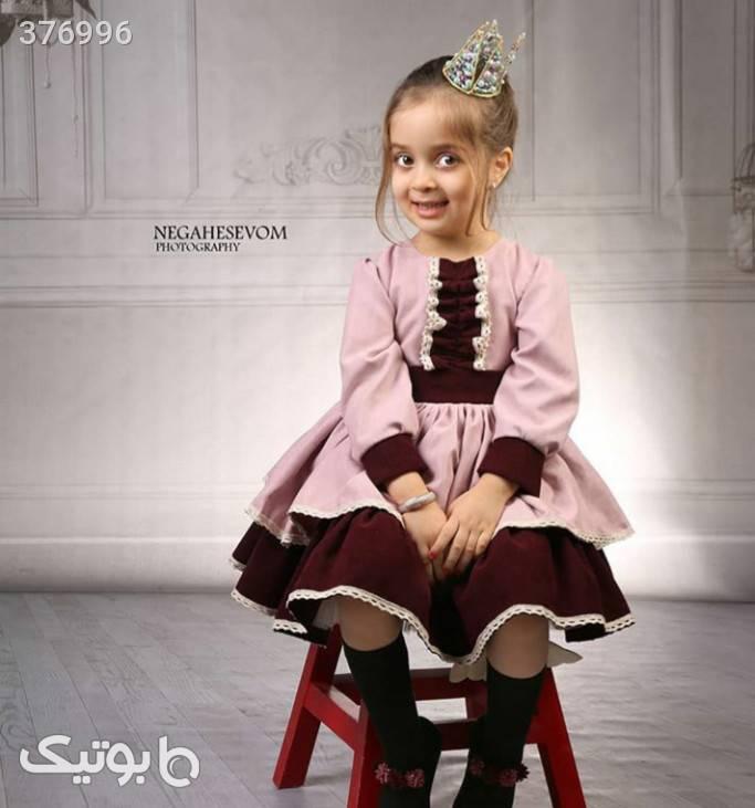 پیراهن اسپانیایی آبی لباس کودک دخترانه