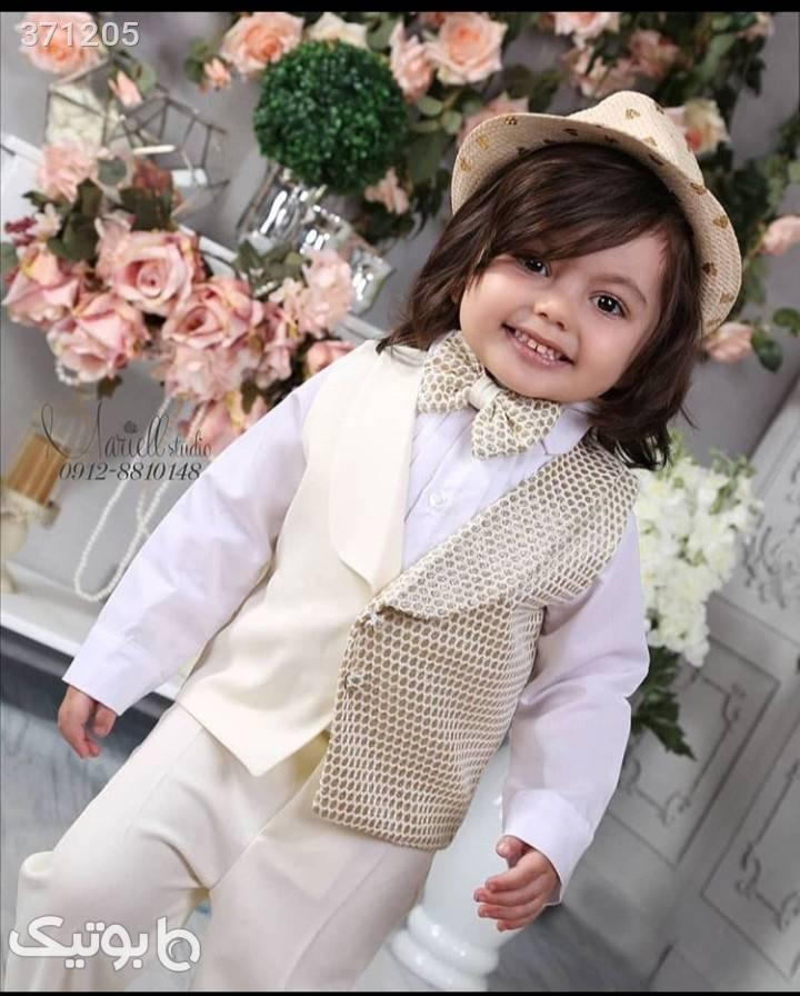 جلیقه شلوار پسرانه  با پیراهن زرد لباس کودک پسرانه