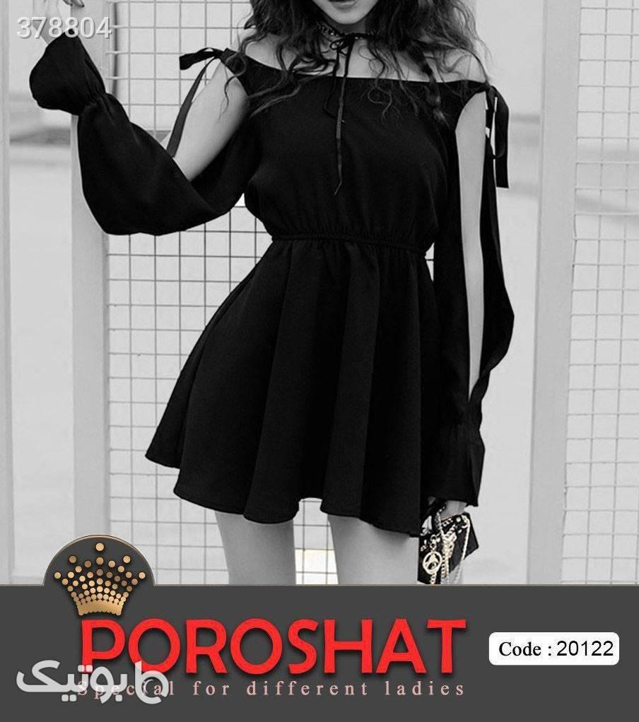 مجلسی عروسکی شیک کد 20122 مشکی لباس  مجلسی