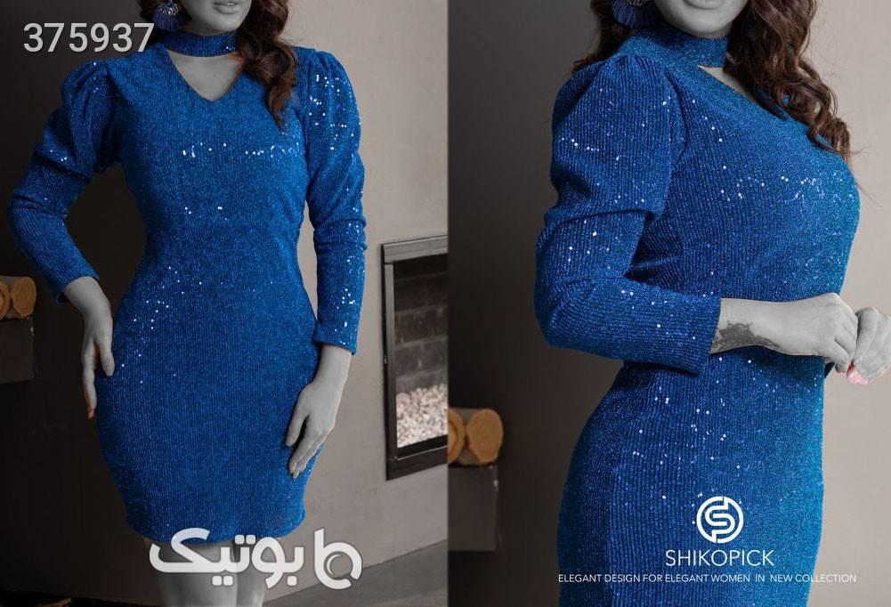 مجلسی لمه آبی لباس  مجلسی