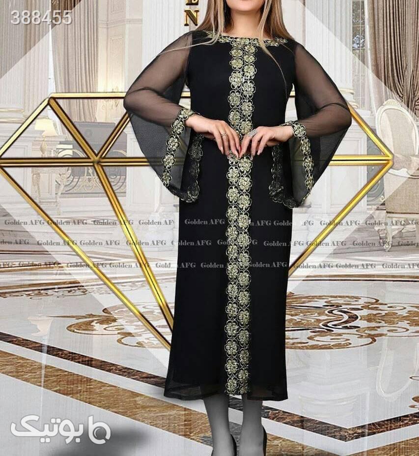 پیراهن مجلسی سبک هندی مدل همتا  مشکی لباس  مجلسی