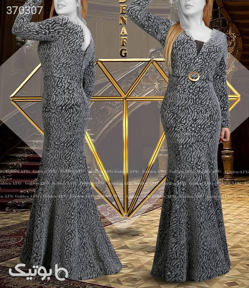 کد طلایی 2019سایز بزرگ مشکی لباس  مجلسی