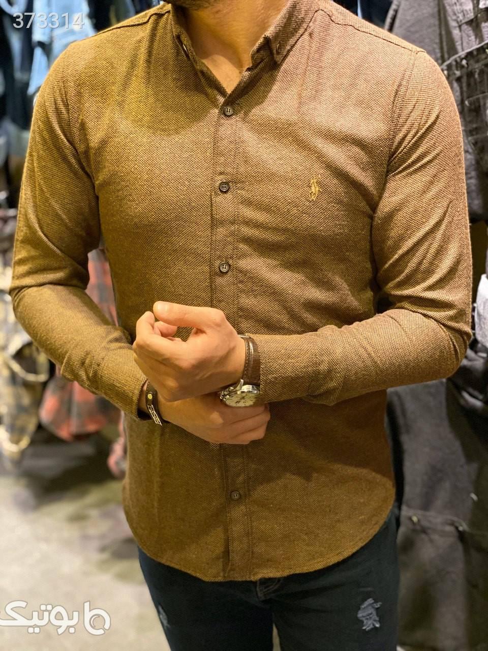 پیراهن پشمی مشکی پيراهن مردانه