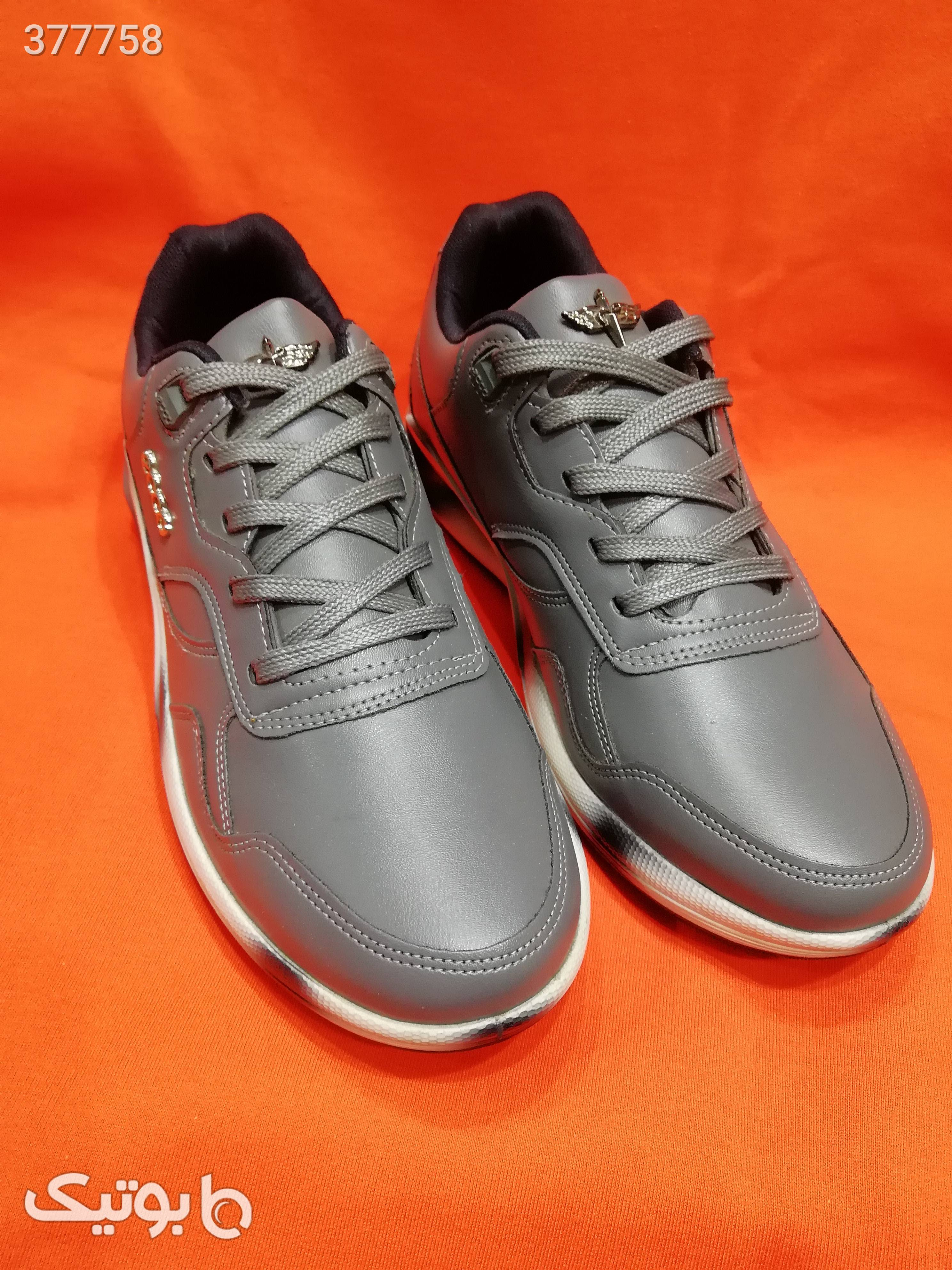 کفش کتونی  سفید كتانی مردانه