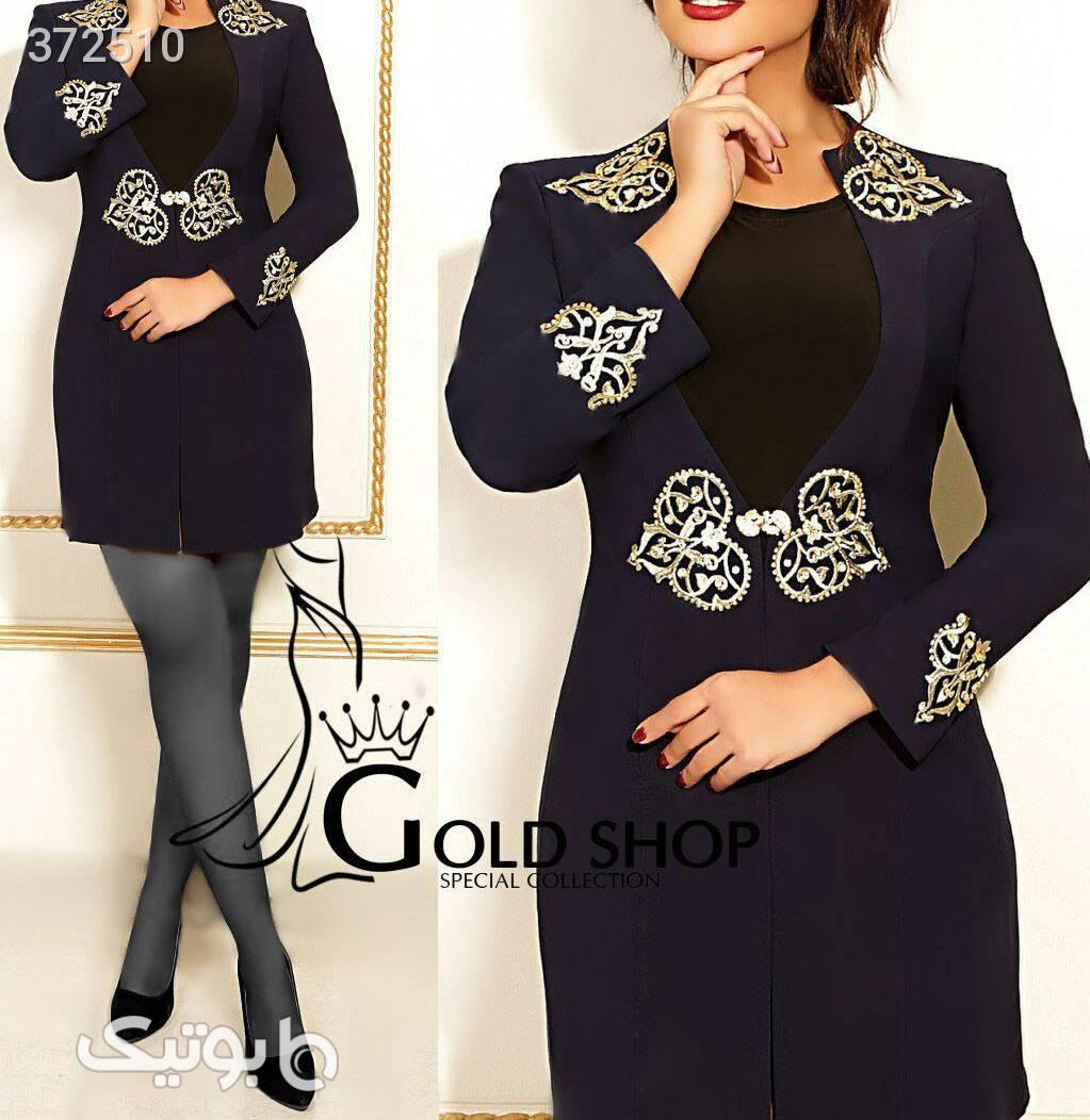 کت بلند و تاپ مدل یلدا بسیار شیک  مشکی كت و شلوار زنانه