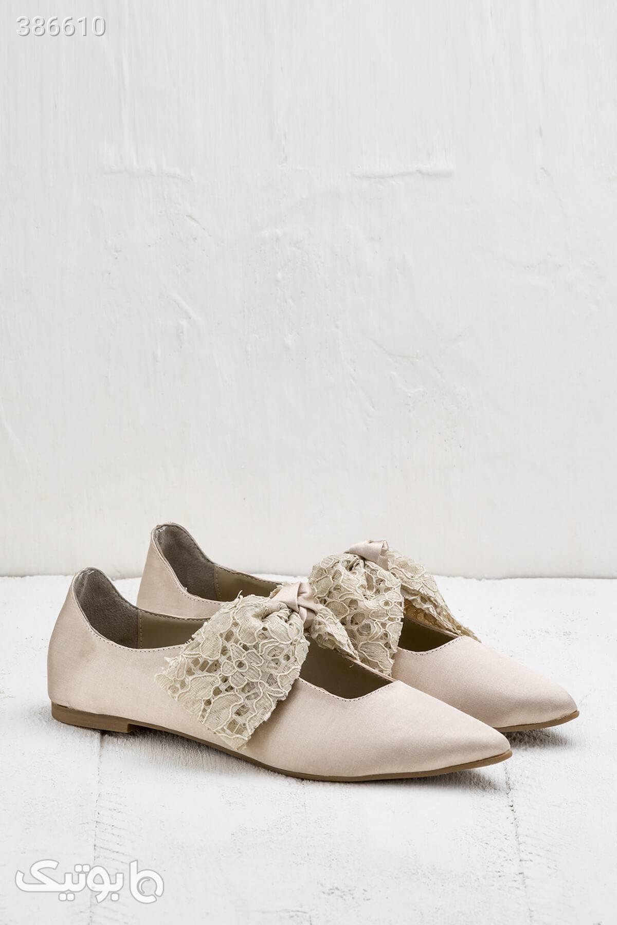 خرید کفش پاشنه دار برند الی Elle کد ۸۸۷۹ مستقیم از ترکیه کرم كفش زنانه