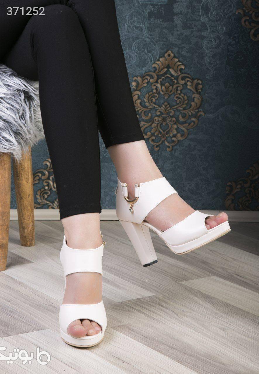 کفش مجلسی کد 465  پاشنه ۱۱ سانت سفید كفش زنانه