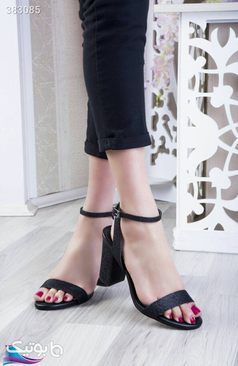 کفش پاشنه۱۰سانت شیک وزیباپرفروش مشکی كفش زنانه