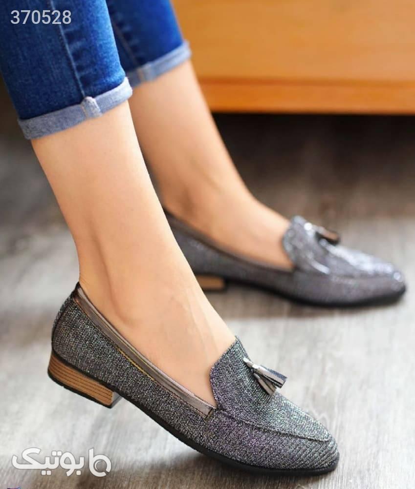کفش کالج زنانه جدید طوسی كفش زنانه