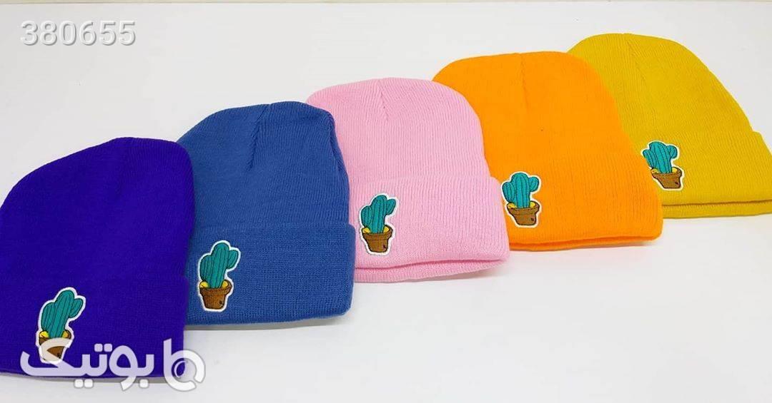 کلاه_اسپرت زرد کلاه بافت و شال گردن و دستکش