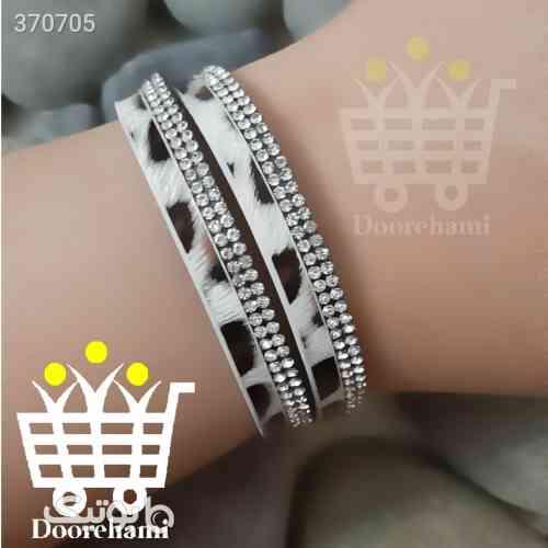 دستبند طرح چرم سفید 98 2020