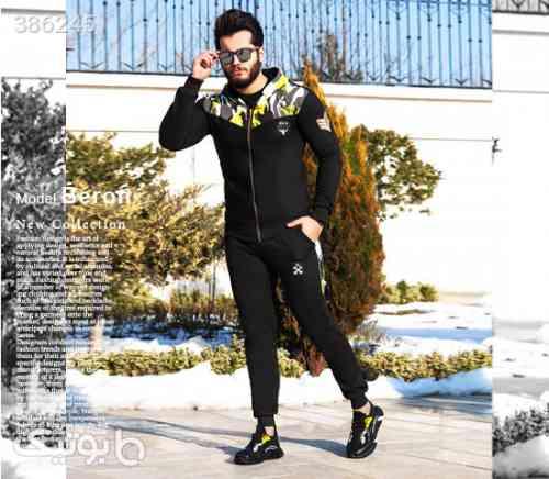 ست سویشرت و شلوار مردانه مدل Berson مشکی 98 2020