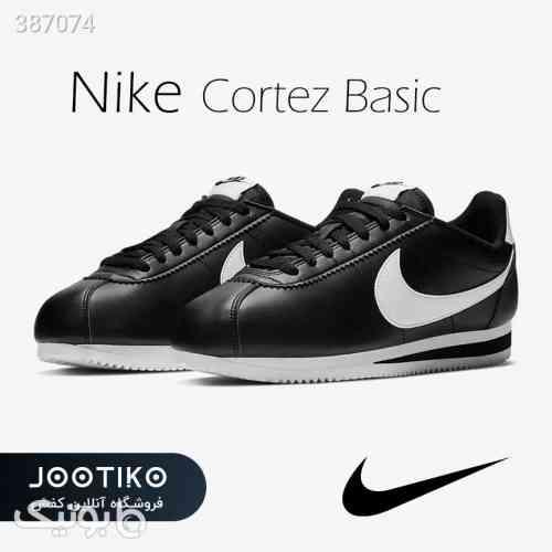 کتانی نایک کورتز مشکی Nike Cortez Basic مشکی 98 2020