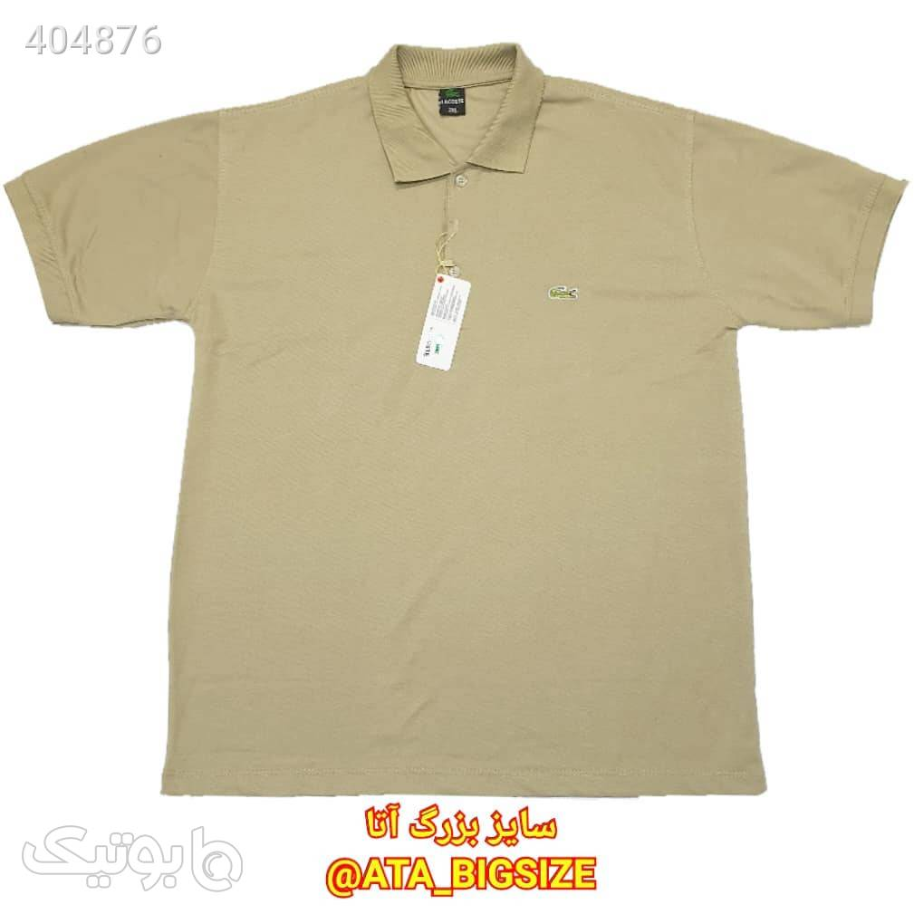 تیشرت جودون یقهدار درجه یک سبز سایز بزرگ مردانه
