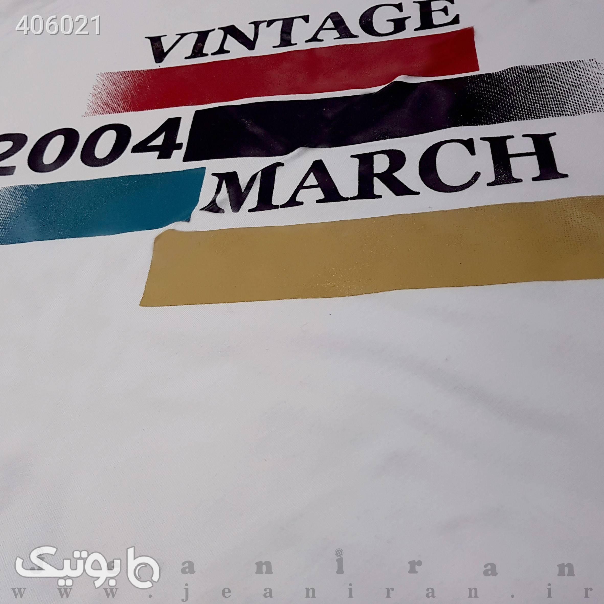 تیشرت پنبه سفید تی شرت و پولو شرت مردانه