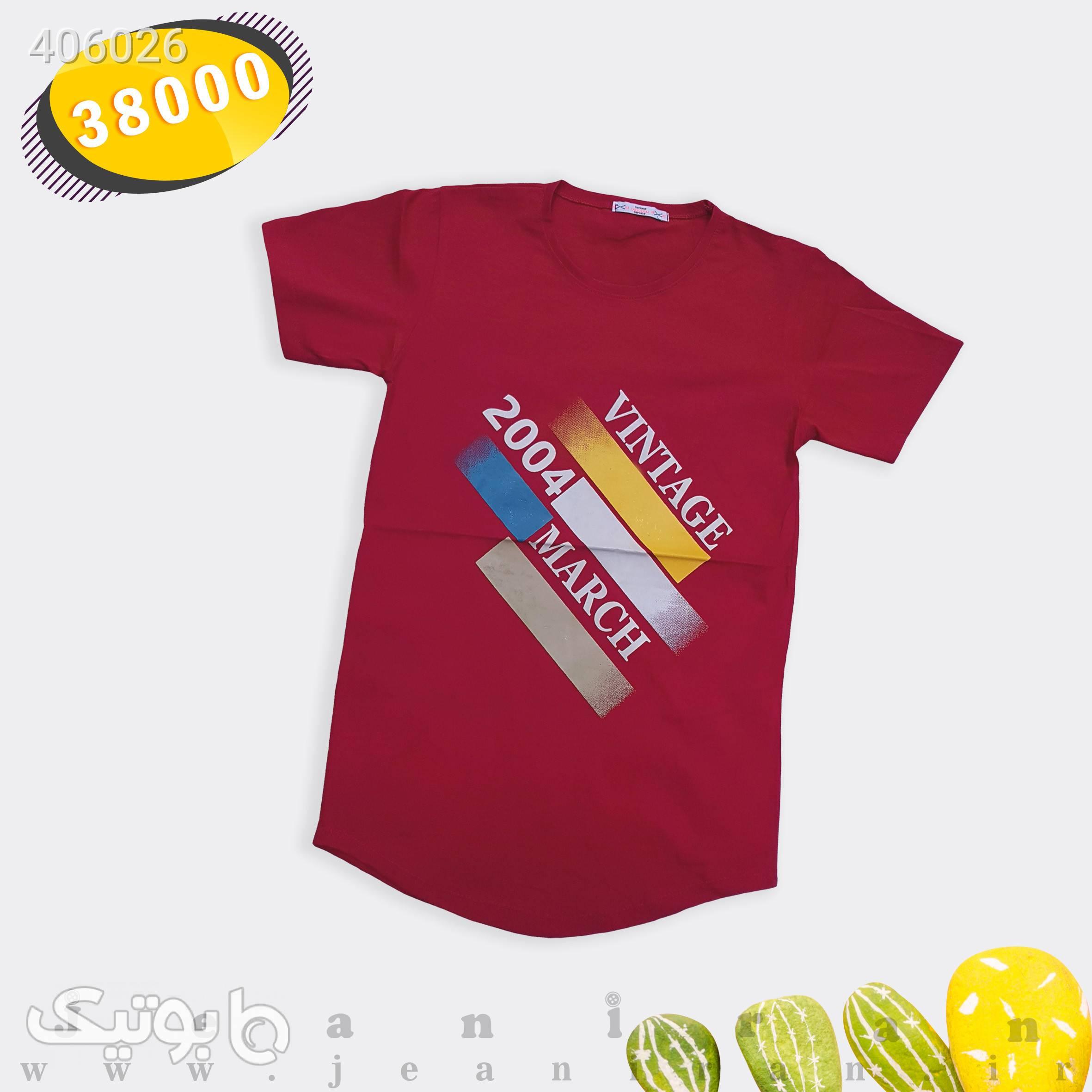 تیشرت پنبه قرمز تی شرت و پولو شرت مردانه
