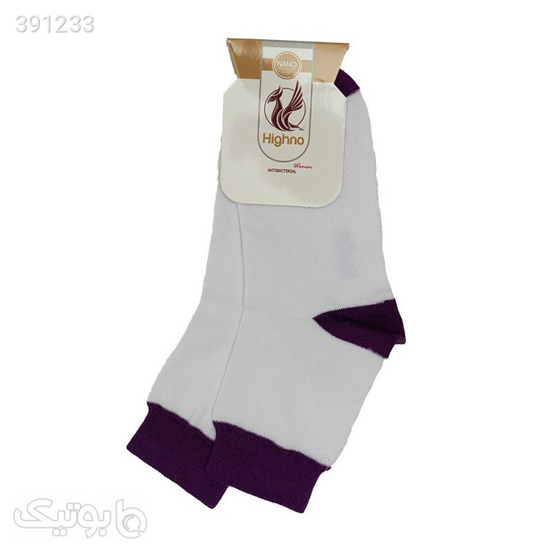 جوراب آنتی باکتریال زنانه مدل 0811-1076 بنفش جوراب و پاپوش