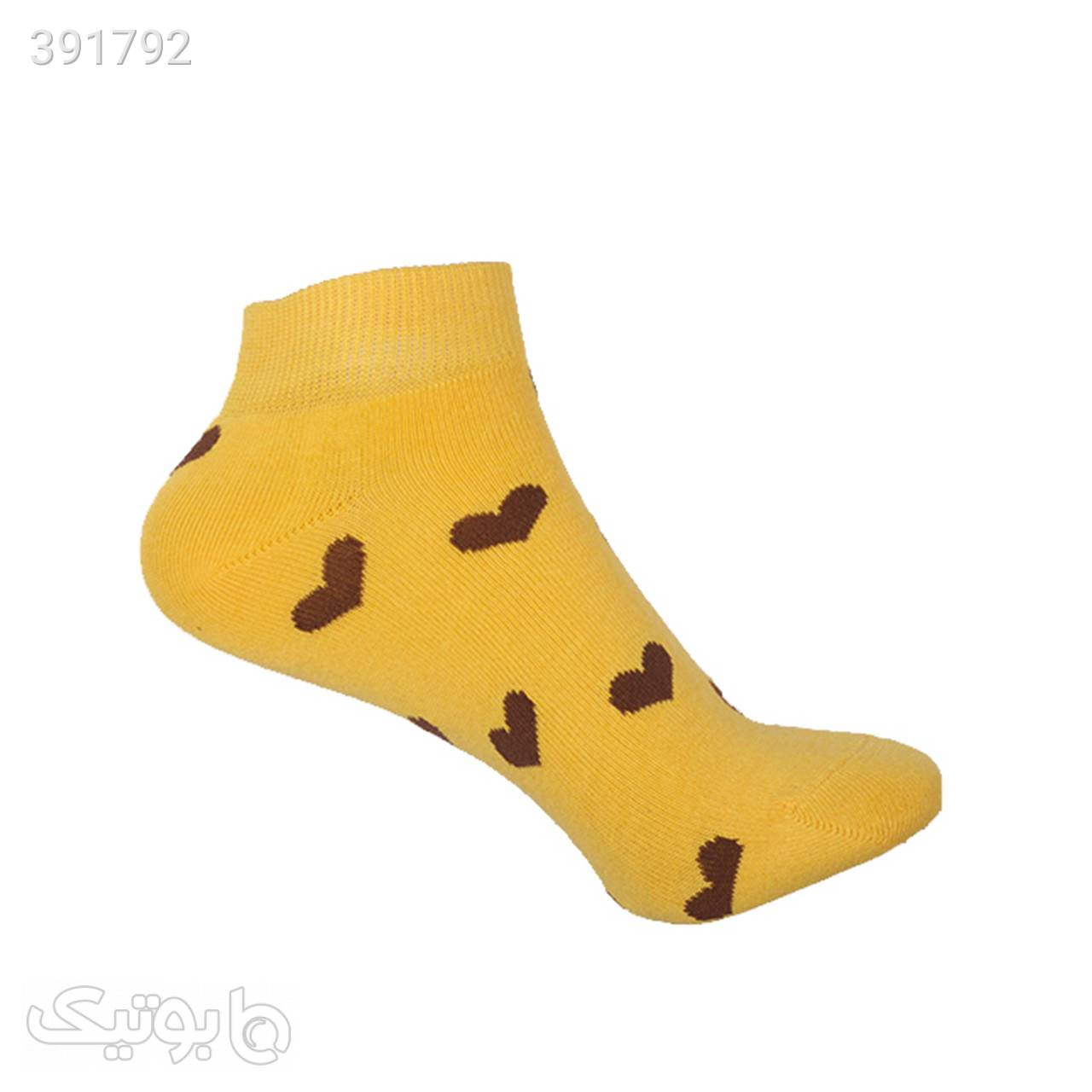 جوراب آنتی باکتریال زنانه مدل 0946-1097 زرد جوراب و پاپوش