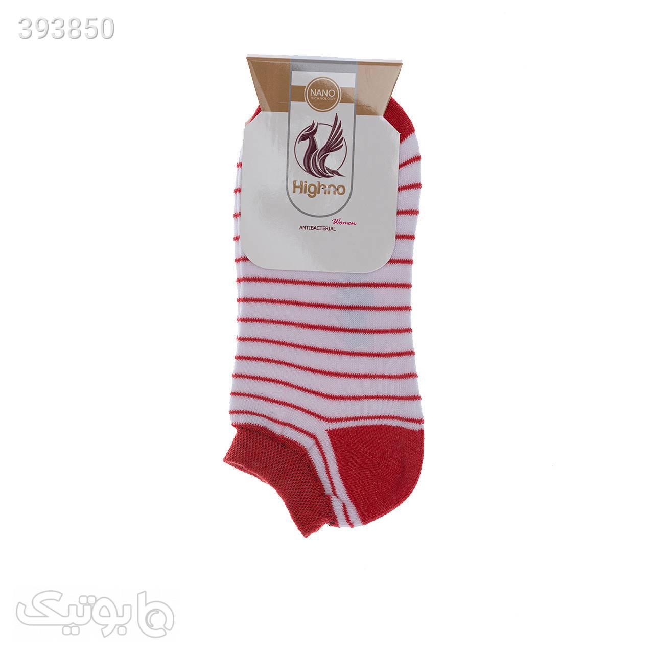 جوراب آنتی باکتریال زنانه مدل 0810-1240 قرمز جوراب و پاپوش