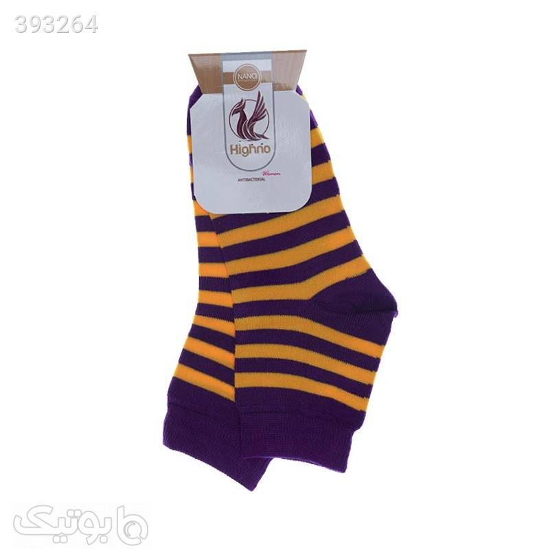 جوراب آنتی باکتریال زنانه مدل 1109-1158 زرد جوراب و پاپوش