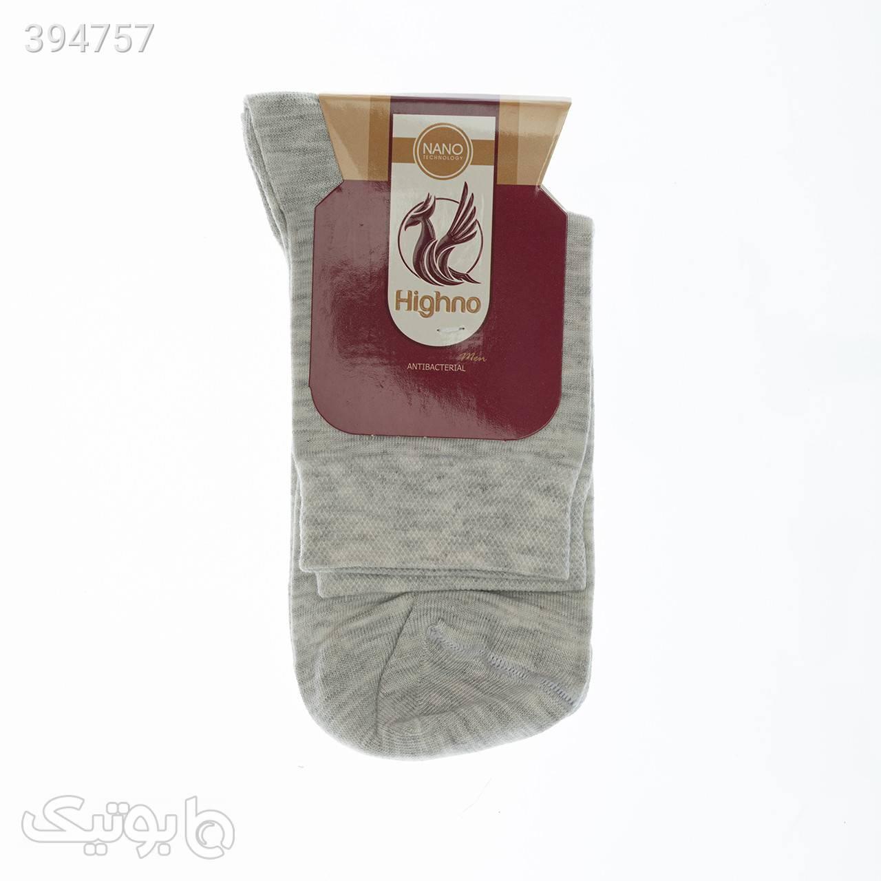 جوراب آنتی باکتریال مردانه مدل 0734-1224 طوسی جوراب و پاپوش