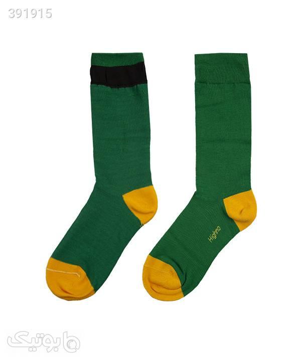 جوراب آنتی باکتریال مردانه مدل 1609-1142 سبز جوراب و پاپوش
