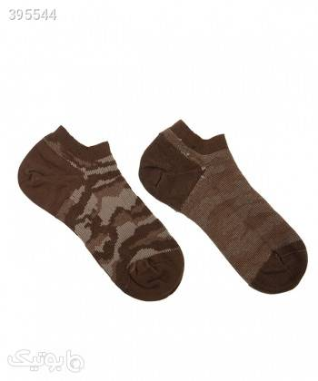 جوراب مردانه ساق کوتاه بالنو Baleno مدل ارتشی قهوه ای جوراب و پاپوش