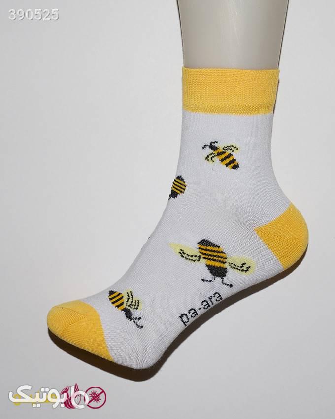 جوراب آنتی باکتریال زنانه مدل 1081 زرد جوراب و پاپوش