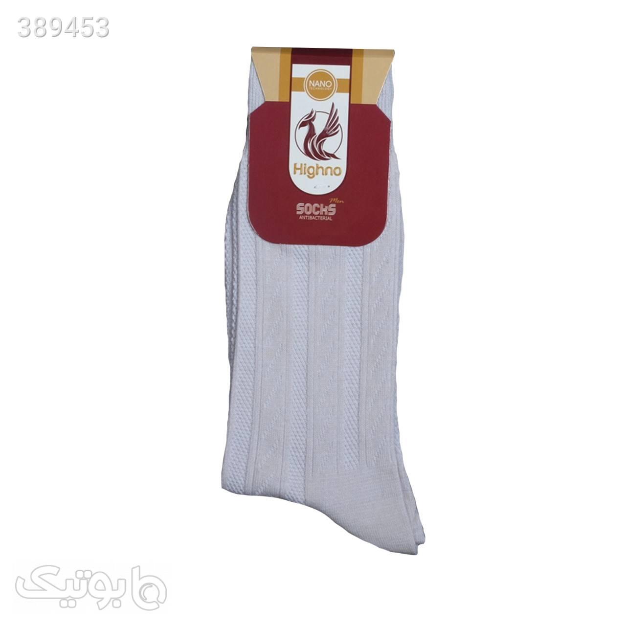 جوراب آنتی باکتریال مردانه مدل 08-1071 سفید جوراب و پاپوش
