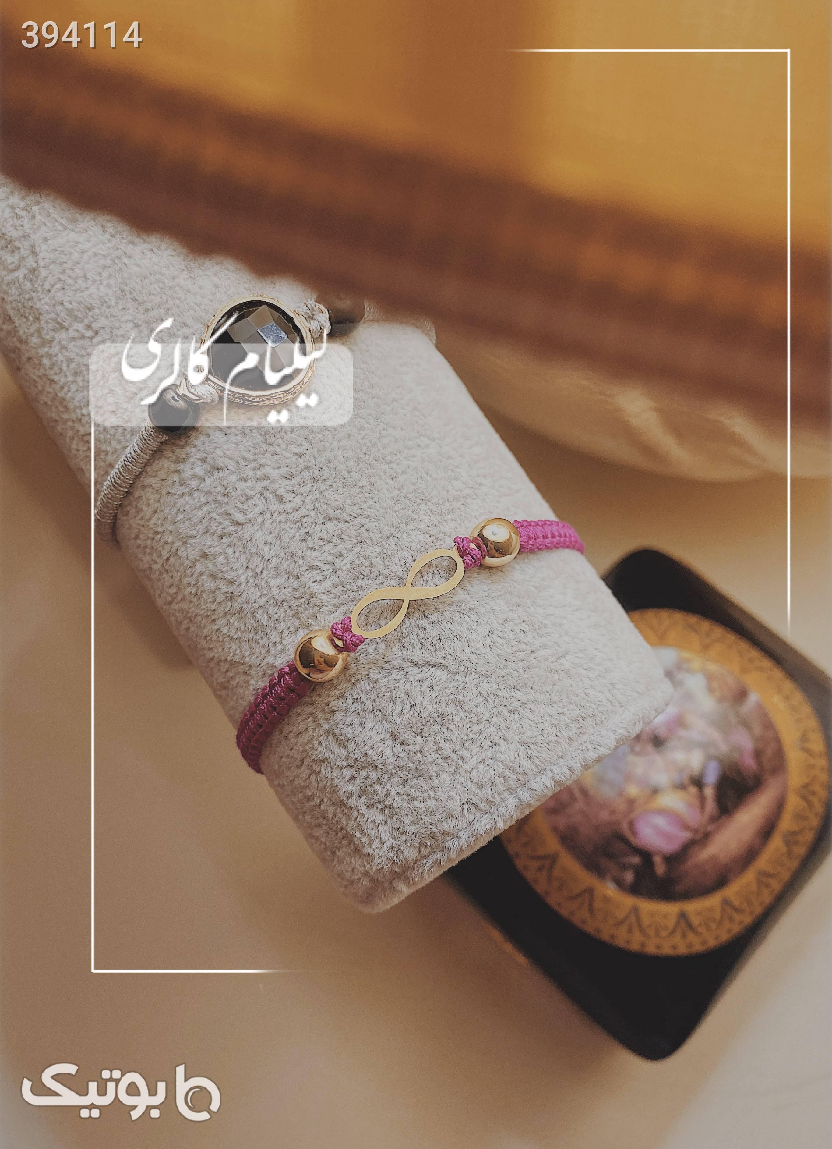 دستبند طلا و بافت بي نهايت سبز دستبند و پابند