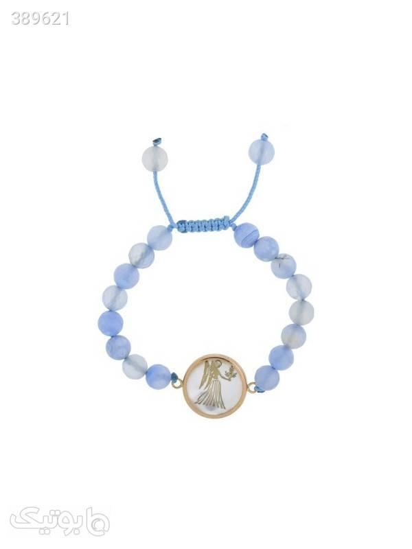 دستبند طلا 18 عیار مدل 003  آبی دستبند و پابند