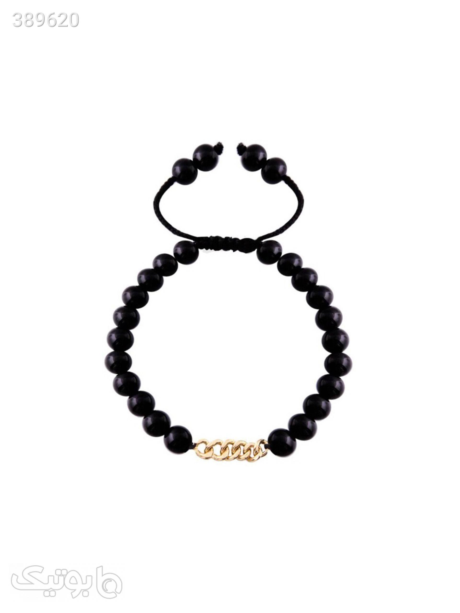دستبند طلا 18 عیار مدل 0428  مشکی دستبند و پابند