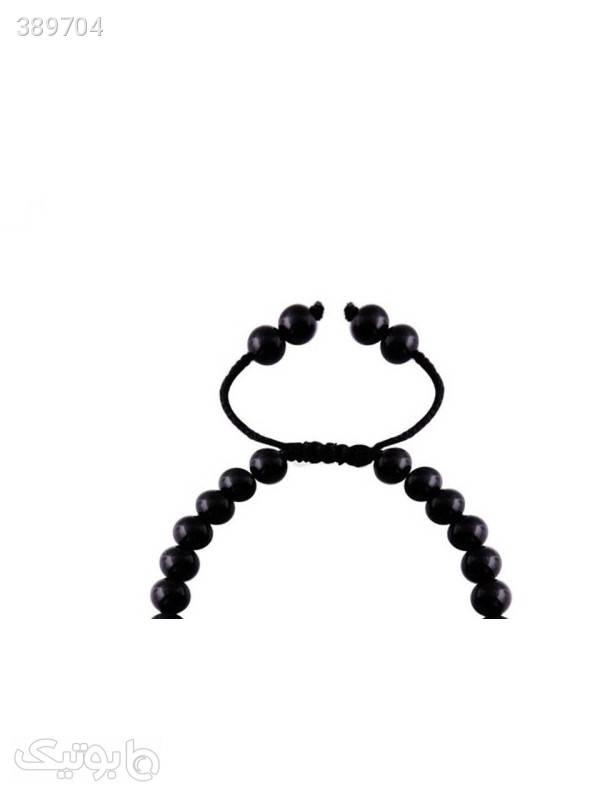 دستبند طلا 18 عیار مدل 0744  مشکی دستبند و پابند