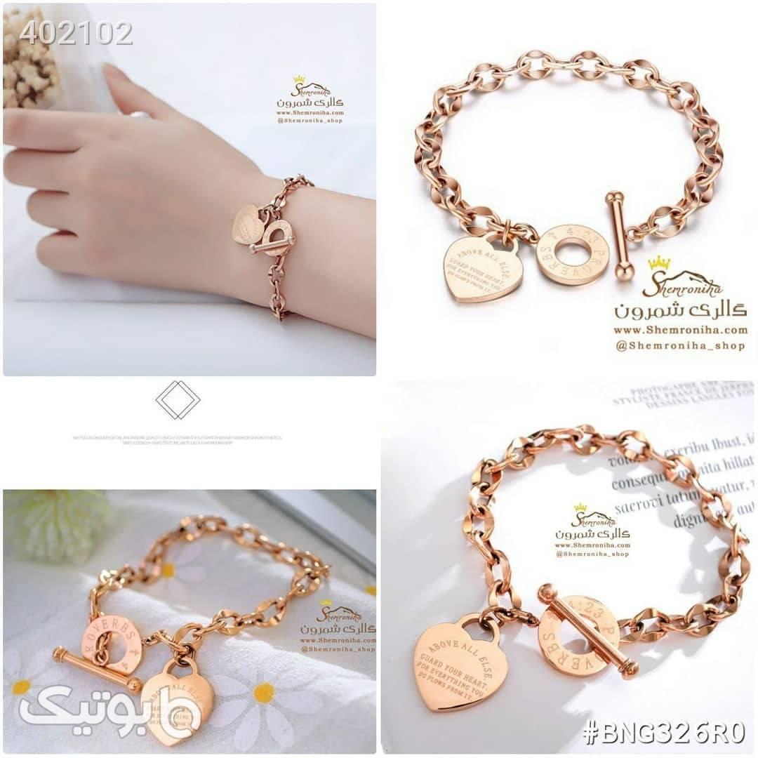 دستبند قلب طرح تیفانی طلایی دستبند و پابند