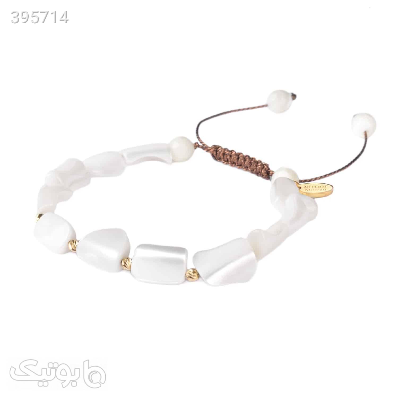 دستبند طلا   صدف   GM13  سفید دستبند و پابند